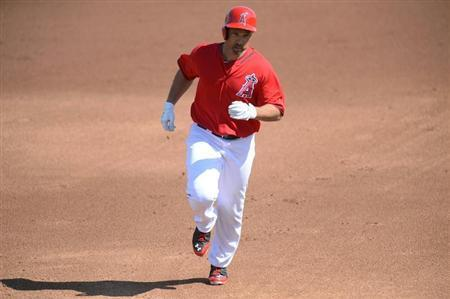 MLB: Spring Training-Texas Rangers at Los Angeles Angels
