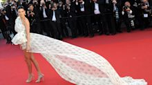 Kendall Jenner Has Stunning Cannes Red Carpet Moment with Billowing Mini Dress