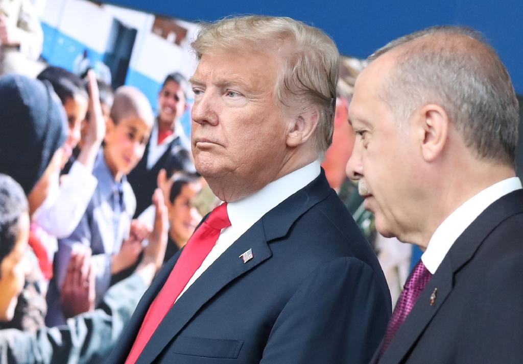 US President Donald Trump and Turkish counterpart Recep Tayyip Erdogan met during a NATO summit in July (AFP Photo/Tatyana ZENKOVICH)