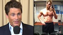 Rob Lowe On Co-Star Chris Pratt's Physical Transformation