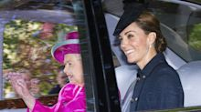 Kate Middleton Smiles as She Joins Queen Elizabeth for Church in Scotland This Morning