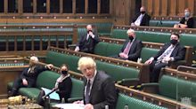 Boris Johnson dodges two questions in a row over why he failed to close UK borders at start of pandemic