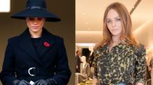 Stella McCartney unter Kritik, weil sie Meghan Markles Mantel am Remembrance Sunday bewarb