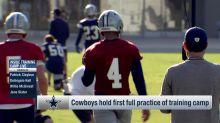 First look: Dak Prescott rocks clear visor at Cowboys camp