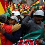 Bolivians jam streets to celebrate  president's resignation