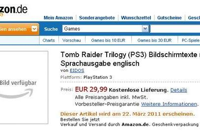 Tomb Raider Trilogy combines HD Legend, Anniversary and Underworld on PS3, retail listing says