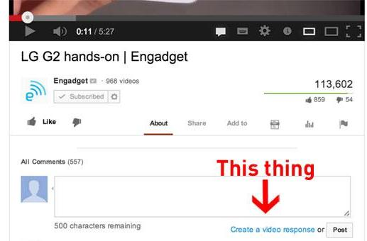 Remember the YouTube video responses you never clicked on? They're going away