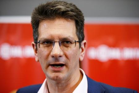 FILE PHOTO: Conservative MP Steve Baker attends a meeting of the pro-Brexit European Research Group in London
