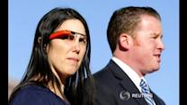 Woman wearing Google Glass while driving avoids ticket