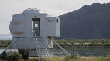 Live like a (coddled) astronaut in this lunar lander-inspired tiny home