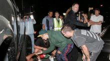 Justin Bieber atropella a un fotógrafo cuando salía de la iglesia