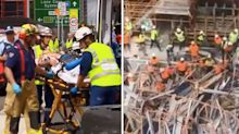 Man dies and another injured after scaffolding collapses at Sydney worksite