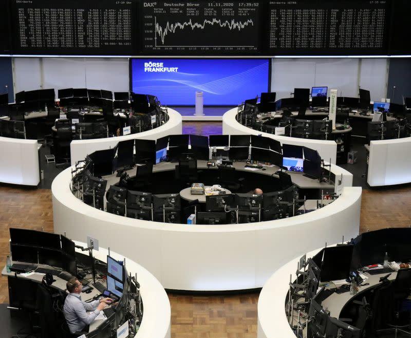 European shares fall on second virus wave fears; Siemens slides