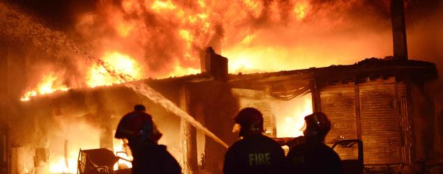 Fire in Dhaka, Bangladesh. (AP)