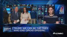 Pharma stocks drop during Trump's opioid speech