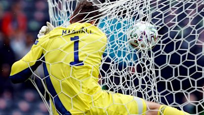 Glorious goal sends keeper crashing into own net