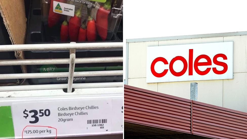 'Tax on plastic': Coles shopper's chilli photos highlight problematic supermarket demand