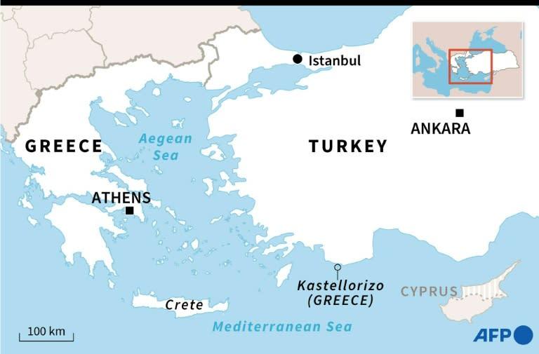 A European official said Merkel warned Erdogan that Turkey would face EU sanctions if it drills off the Greek island of Kastellorizo