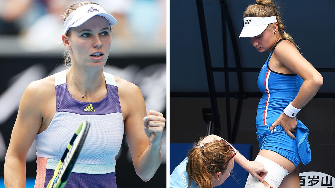 'Atrocious': Caroline Wozniacki brushes of Australian Open opponent's 'shameful' tactic