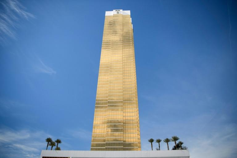 The Trump International Hotel Las Vegas appears in a meme tweeted by the US president (AFP Photo/Brendan Smialowski)