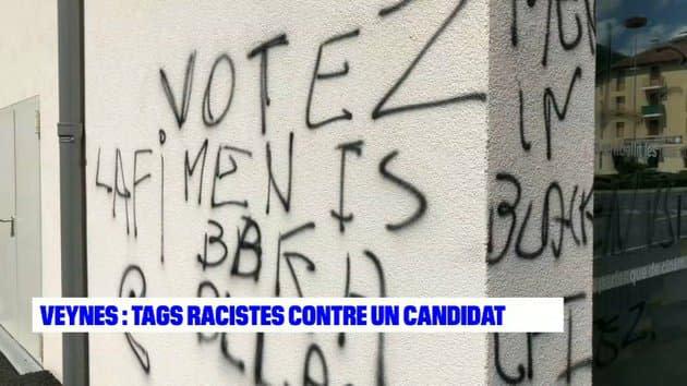 Hautes-Alpes: des tags injurieux et racistes visent un candidat aux départementales