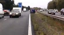 M40 crash: Driver who towed caravan wrong way on motorway 'involved in accident days before'