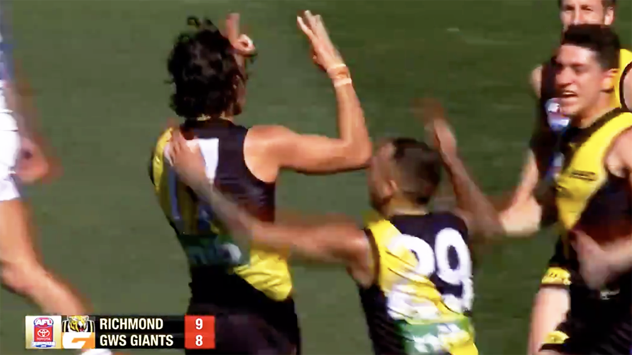 Daniel Rioli's controversial gesture for cousin Willie in AFL grand final
