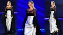 Gwyneth Paltrow's stylist explains the actress' awkward Emmys shuffle