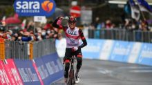 Dombrowski wins Giro fourth stage, De Marchi takes pink jersey