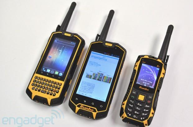 Runbo X5 and X3 rugged Android phones moonlight as walkie-talkies, cost just $320