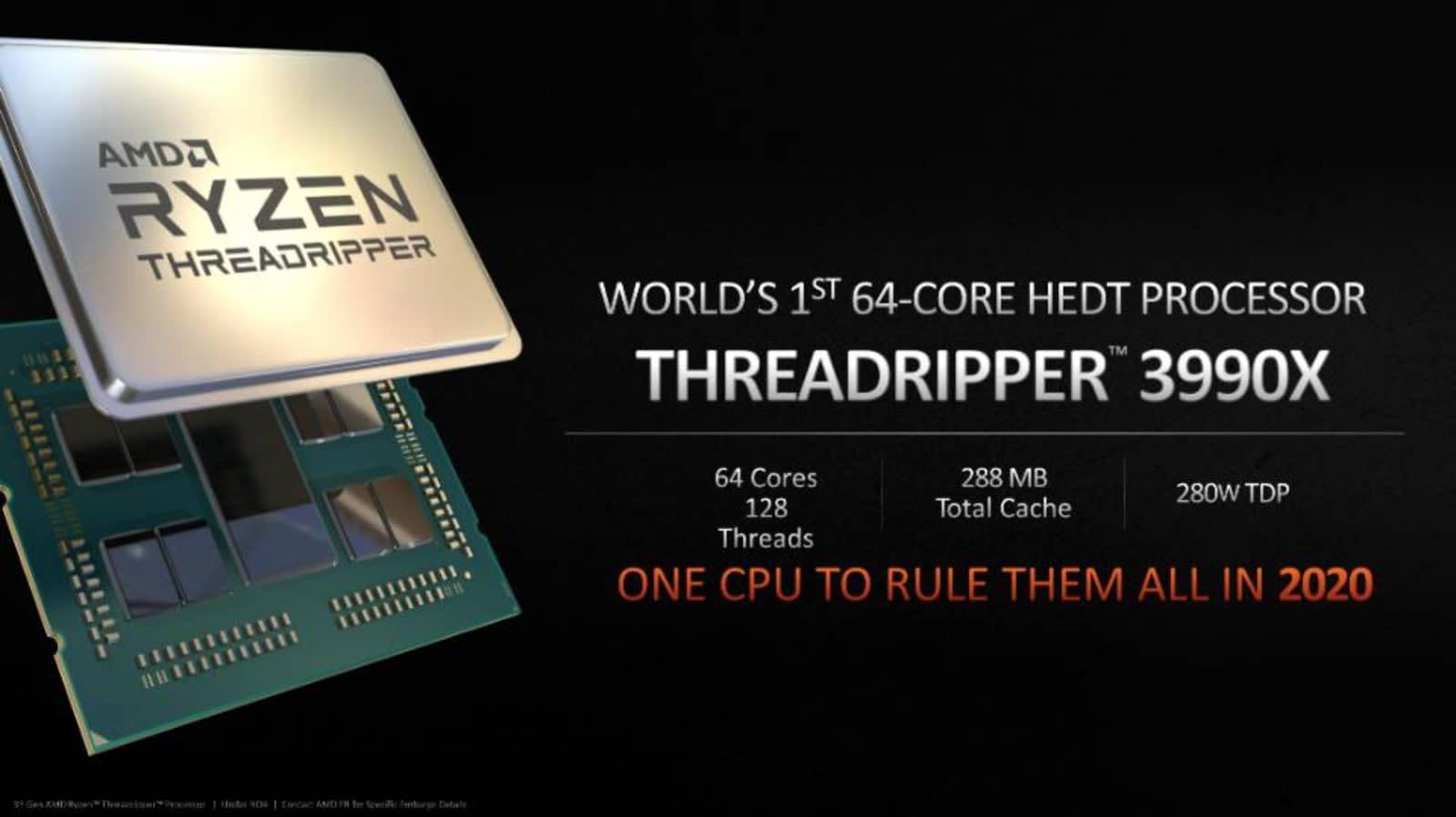 AMD Threadripper 3990X 64-core CPU