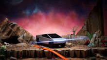 Here's a Hot Wheels version of Elon Musk's Cybertruck — complete with cracked window