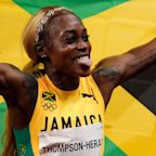 Elaine Thompson-Herah leads Jamaican sweep with 100-meter gold