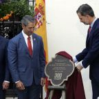 King and queen of Spain visit 300-year-old San Antonio
