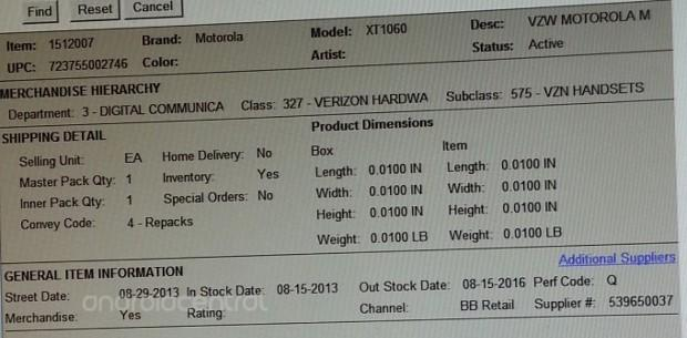 Verizon Moto X pegged for August 29th release in leaked Best Buy inventory