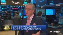 ETFs: Big volume on tariff announcements