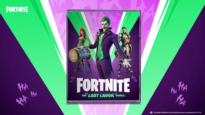 The Joker, Poison Ivy and Midas Rex in 'Fortnite' Last Laugh Bundle