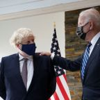 With a nod to Black Lives Matter, UK's Johnson gives Biden mural photo