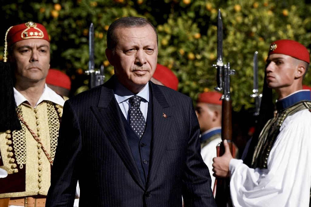 Turkish President Recep Tayyip Erdogan ruffled feathers in Greece at the start of a two-day state visit (AFP Photo/ARIS MESSINIS)