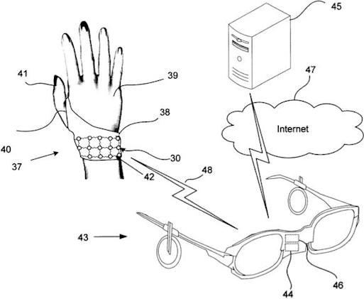 Nokia interface patent fits like an AR-enhancing glove