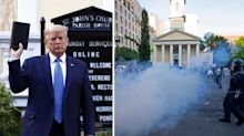 Trump slammed for 'having priests tear gassed' and 'misusing religious symbols'