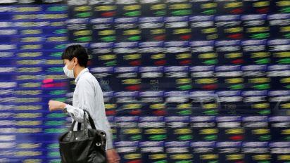Asian shares, dollar gain