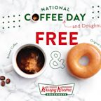 Krispy Kreme Is Giving Away Free Coffee and Donuts on National Coffee Day