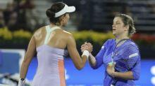 Dubai Tennis Championships: Kim Clijsters loses in straight sets against Garbine Muguruza on return to WTA Tour