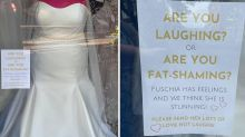 Bridal store mannequin 'fat-shamed' by customers: 'Really sad'
