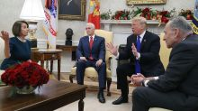 Nancy Pelosi praised after she and Chuck Schumer spar with Donald Trump in impromptu televised confrontation