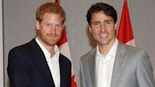 Just Some Pictures of Prince Harry and Justin Trudeau Hanging Out That Will Make Your Day