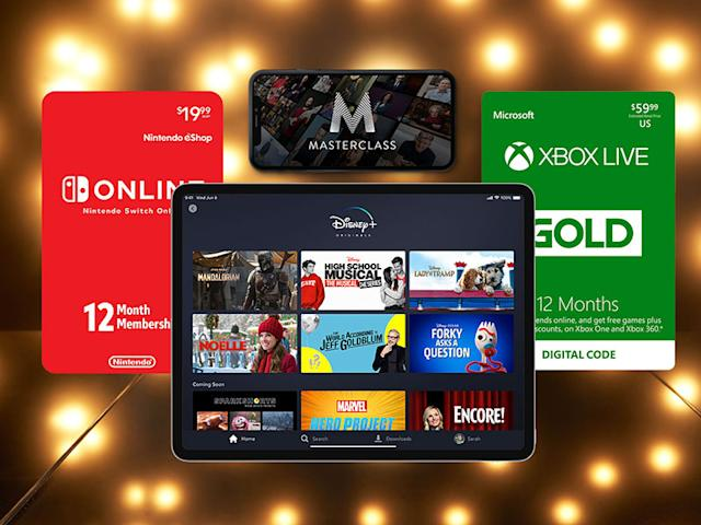 Subscriptions and gift cards that make great last-minute gifts