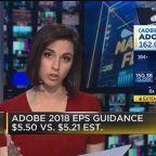 Adobe shares jump more than 5 percent on 2018 profit forecast