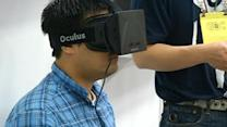 Oculus headset draws crowd at Game Developers Conference